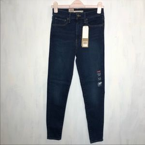 Levi's Mile High Super Skinny Jeans Jet Setter 26